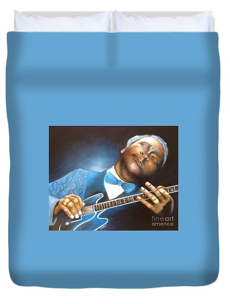 Duvet Cover featuring the painting  Bb King by Patrice Torrillo