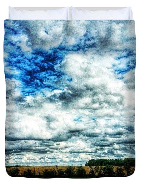 💙 Big Skies 💙 Duvet Cover by Vicki Field
