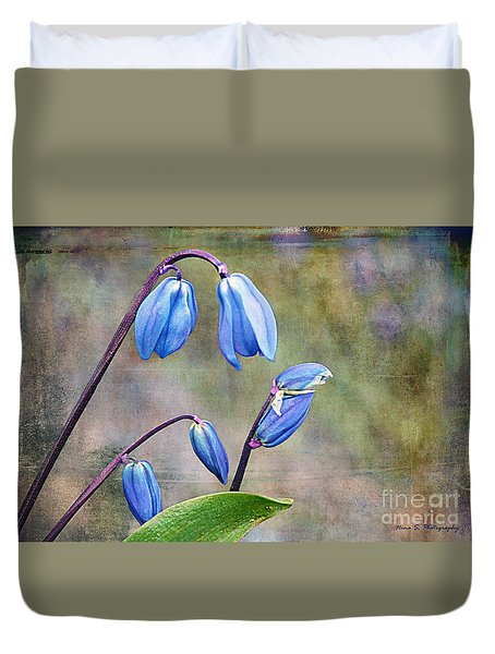 Bluebells And Beyond Duvet Cover by Nina Silver