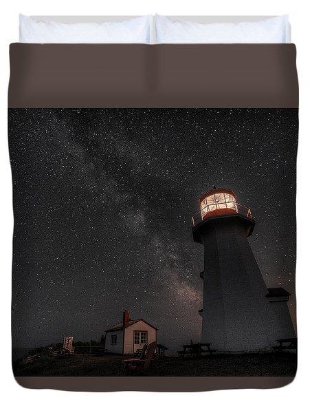 Cap Gaspe Milky Way Duvet Cover