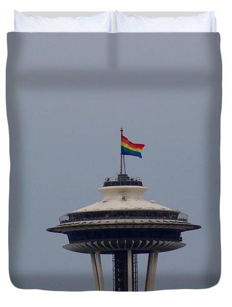Celebrates Gay Pride  Duvet Cover