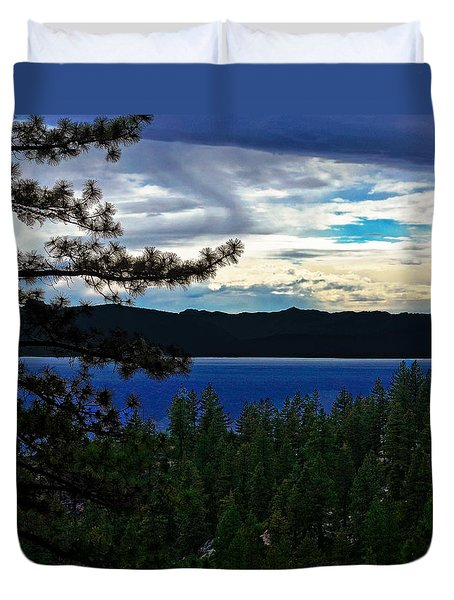 Chrystal Blue Waters Duvet Cover by B Wayne Mullins