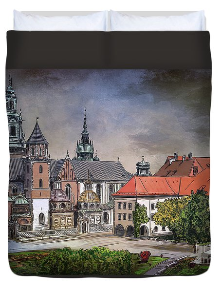 Cracow.world Youth Day In 2016. Duvet Cover by Andrzej Szczerski