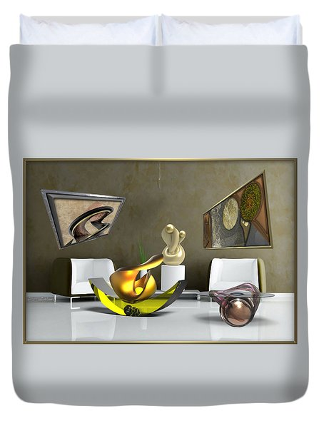 ' Cubrssrs - Tubehumanseedlings - Ball Box Intrigue - Kyscopic Table - Pearl ' Duvet Cover