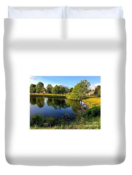 Duvet Cover featuring the photograph  Cypress Creek - No.430 by Joe Finney