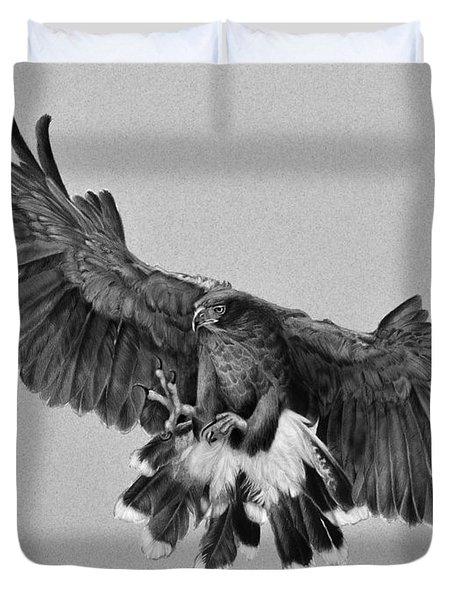 Da181 Harris's Hawk By Daniel Adams Duvet Cover