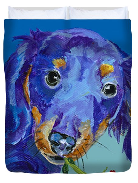 Dach Duvet Cover by Pat Saunders-White