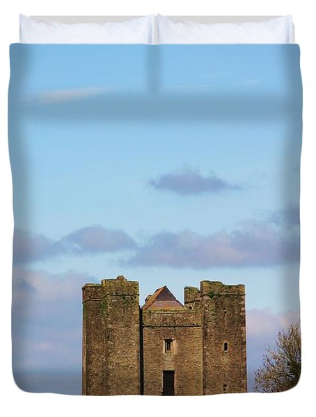 Dunsoghly Castle Duvet Cover by Martina Fagan