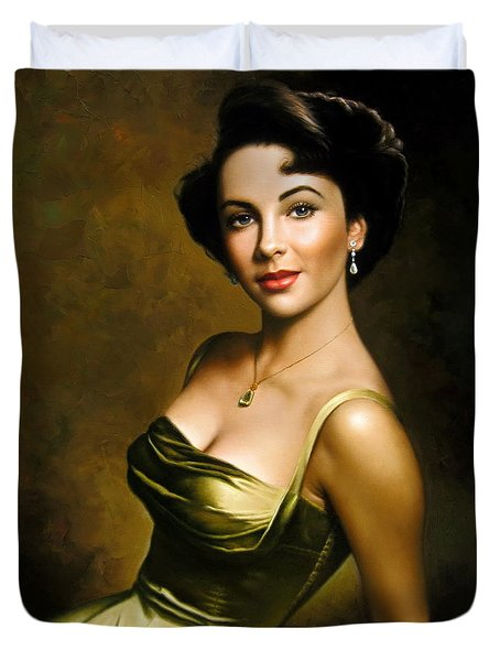 Elizabeth Taylor 2 Duvet Cover