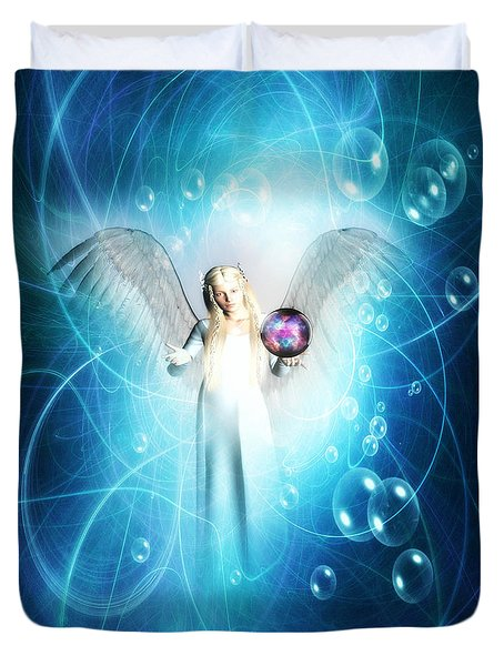Duvet Cover featuring the digital art  Energy Healing  by Riana Van Staden