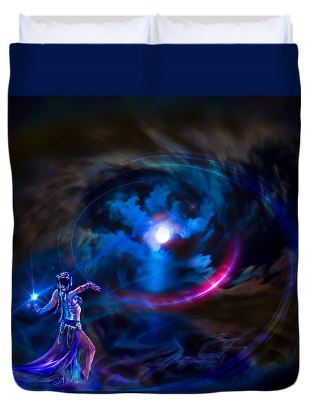 Entrancing The Mystical Moon Duvet Cover