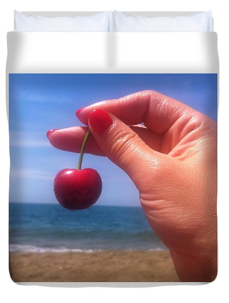 Cherry On The Sea Duvet Cover