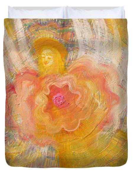 Flower Angel Duvet Cover