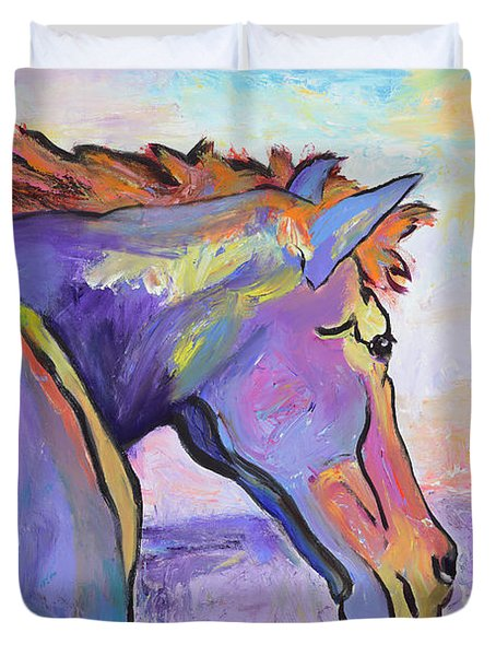 Frosty Morning Duvet Cover by Pat Saunders-White
