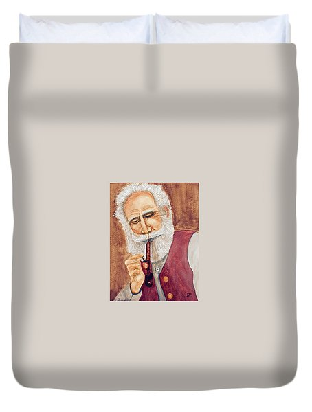 German With Pipe No. 2 Duvet Cover