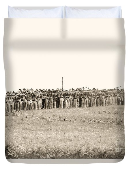 Gettysburg Confederate Infantry 0157s Duvet Cover