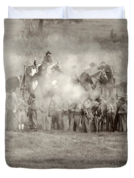 Gettysburg Confederate Infantry 7503s Duvet Cover