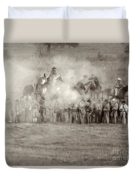 Gettysburg Confederate Infantry 7503s Duvet Cover