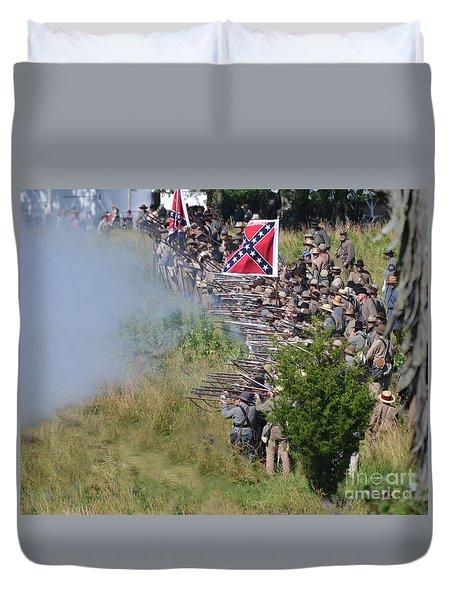 Gettysburg Confederate Infantry 8769c Duvet Cover