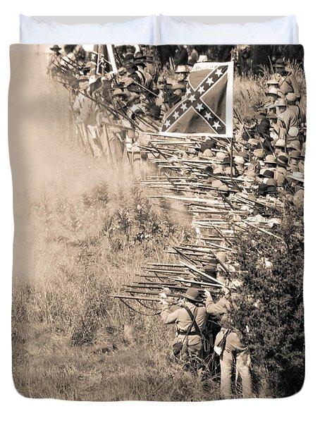 Gettysburg Confederate Infantry 8769s Duvet Cover