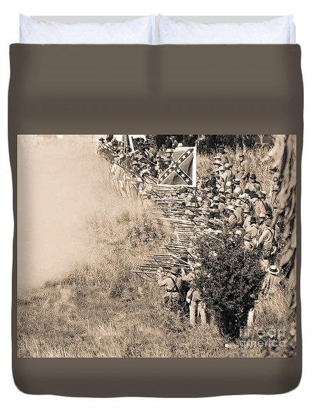 Gettysburg Confederate Infantry 8769s Duvet Cover