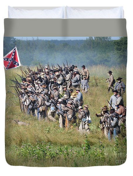 Gettysburg Confederate Infantry 9015c Duvet Cover