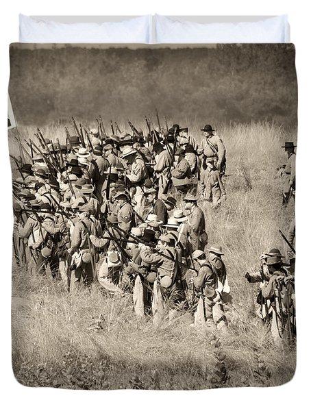 Gettysburg Confederate Infantry 9015s Duvet Cover