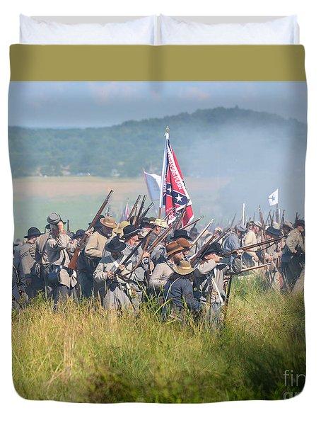 Gettysburg Confederate Infantry 9214c Duvet Cover