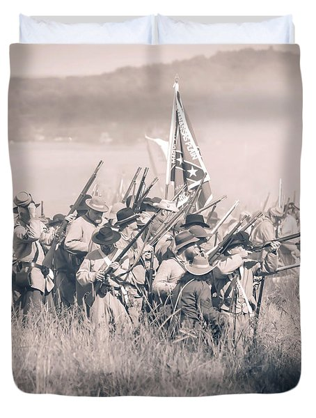 Gettysburg Confederate Infantry 9214s Duvet Cover