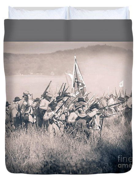 Gettysburg Confederate Infantry 9214s Duvet Cover