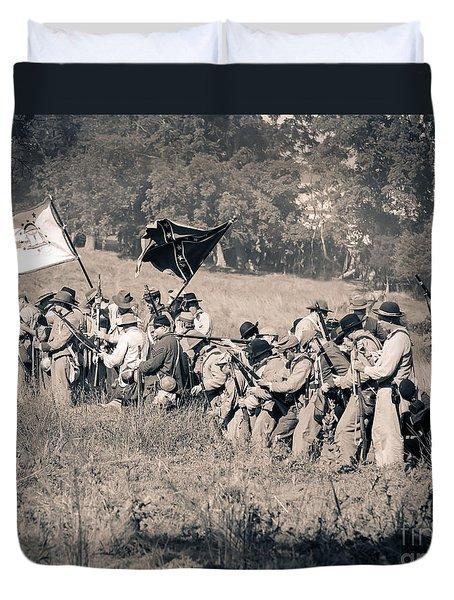 Gettysburg Confederate Infantry 9281s Duvet Cover