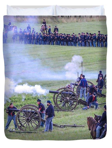 Gettysburg Union Artillery And Infantry 7439c Duvet Cover