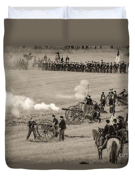 Gettysburg Union Artillery And Infantry 7439s Duvet Cover