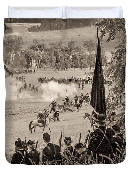 Gettysburg Union Artillery And Infantry 7457s Duvet Cover