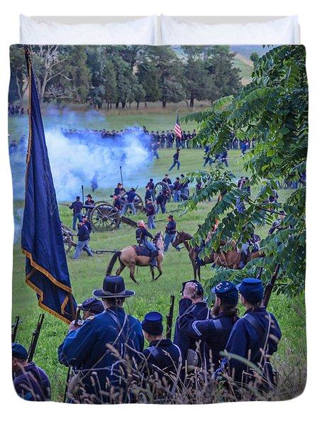 Gettysburg Union Artillery And Infantry 7459c Duvet Cover