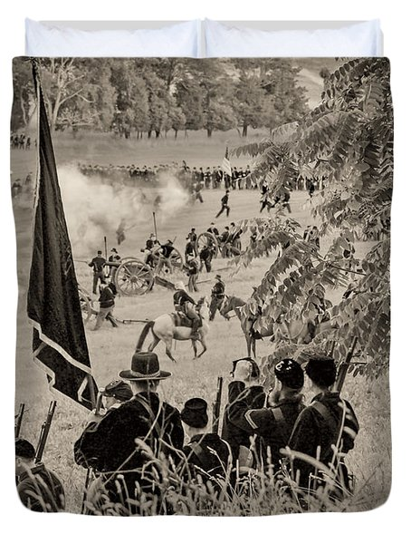 Gettysburg Union Artillery And Infantry 7459s Duvet Cover
