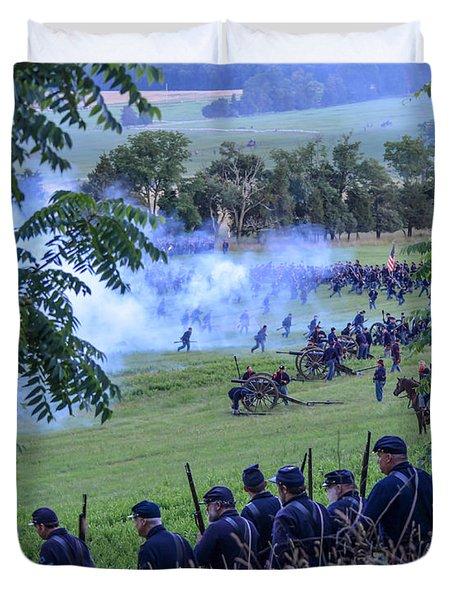 Gettysburg Union Artillery And Infantry 7465c Duvet Cover