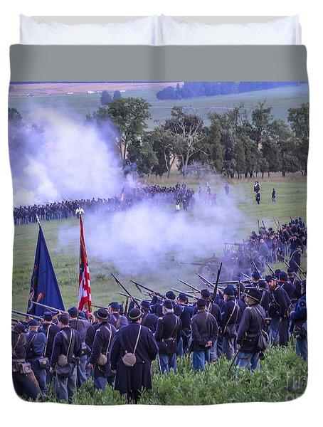 Gettysburg Union Artillery And Infantry 7496c Duvet Cover