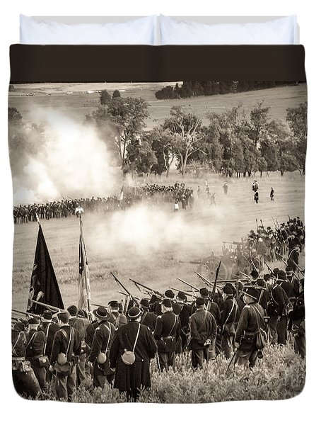 Gettysburg Union Artillery And Infantry 7496s Duvet Cover