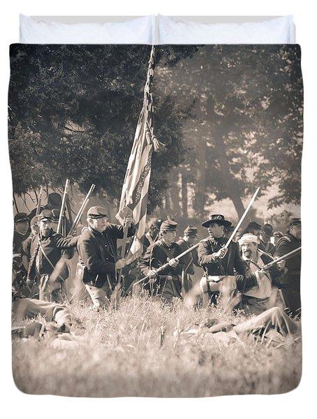 Gettysburg Union Infantry 9348s Duvet Cover