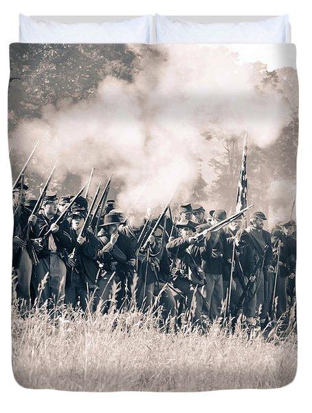 Gettysburg Union Infantry 9360s Duvet Cover