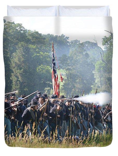 Gettysburg Union Infantry 9372c Duvet Cover