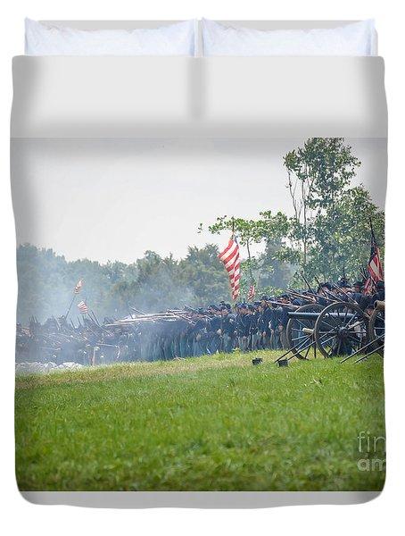 Gettysburg Union Infantry 9968c Duvet Cover