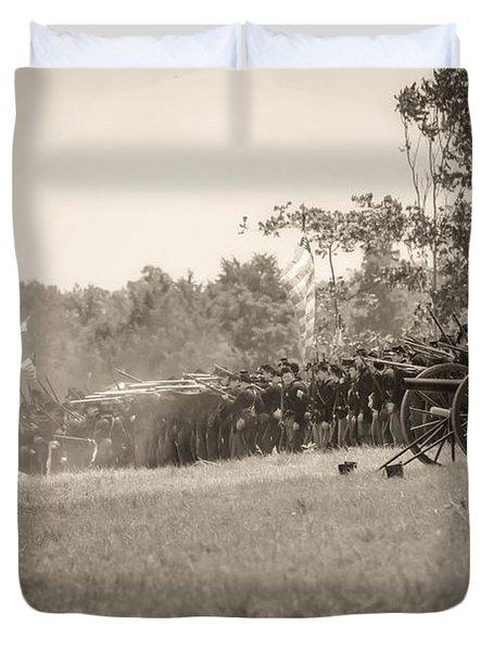 Gettysburg Union Infantry 9968s Duvet Cover