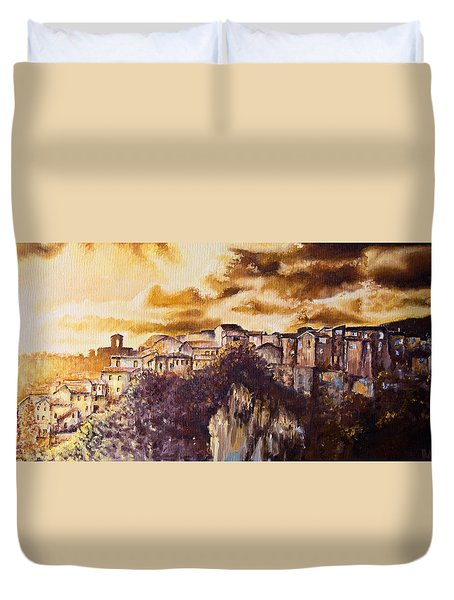Golden Lights Duvet Cover