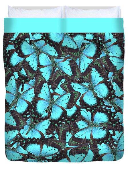 Green Swallowtail Butterfly Duvet Cover