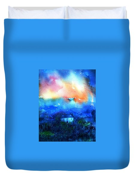 Haunted Dawn Duvet Cover by Trudi Doyle