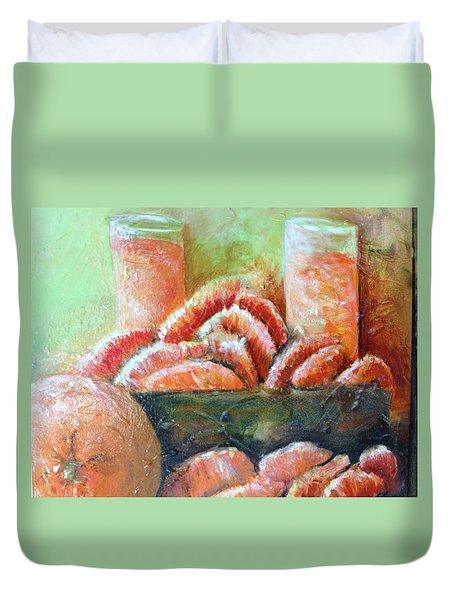 Mandarin Oranges  Duvet Cover