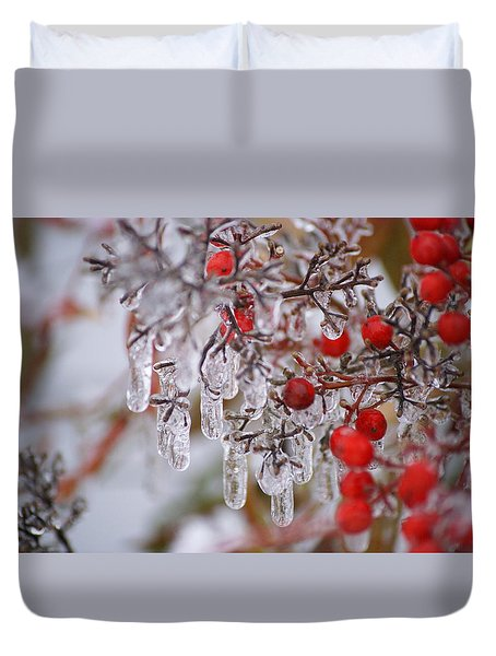 Holiday Ice Duvet Cover by Heidi Poulin
