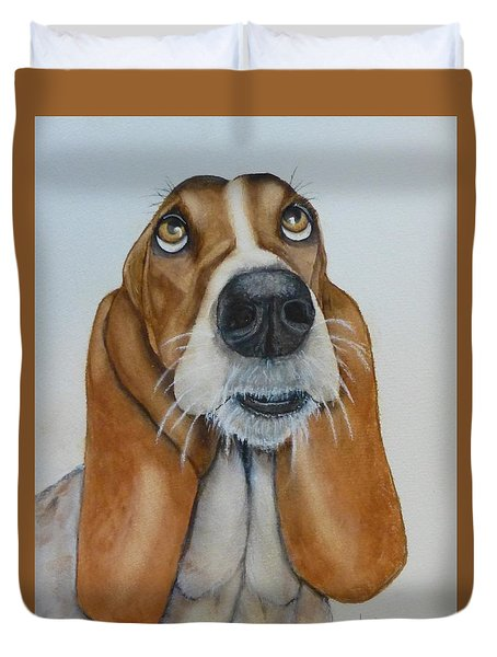 Hound Dog's Pleeease Duvet Cover